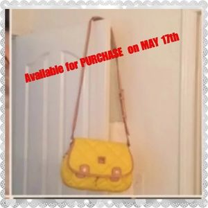 DOONEY BOURKE LARGE SPICY YELLOW QUILTED CROSSBODY